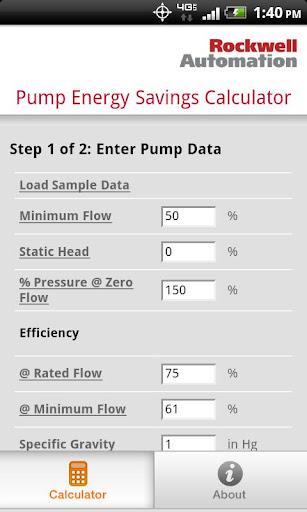 Pump Energy Savings Calculator