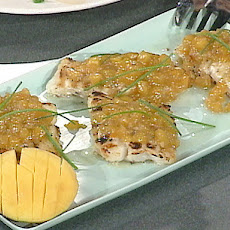 Grilled Grouper with Mango Habanero Barbecue Sauce