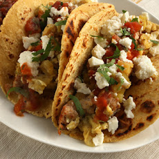 Chorizo and Potato Breakfast Tacos Recipe