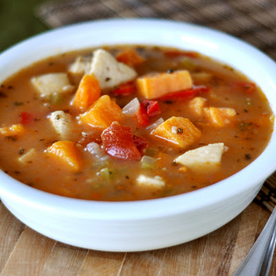 Spicy {Or Not} Chicken and Sweet Potato Soup