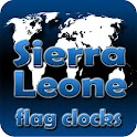 Sierra Leone flag clocks icon