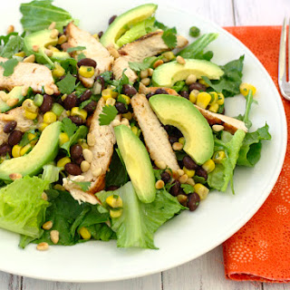 Southwestern Grilled Chicken Salad with Black Bean Salsa