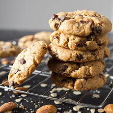 Crispy Peanut Butter Chocolate Chip Cookies (Gluten-Free)
