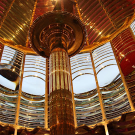 Umpqua Lighthouse Inside Dome by Bill Waterman - Buildings & Architecture Public & Historical ( lighthouses, waves, ocean, beach, landscapes )