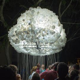 Rain of light by Bruno Vieira - People Street & Candids ( lamps, lumina, portugal, light, street photography )