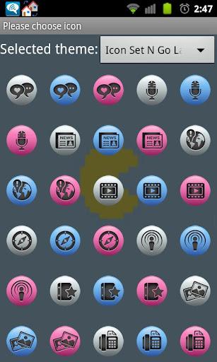 Icon Set N Go Launcher Ex