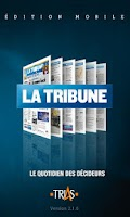 Screenshot of La Tribune pour tablettes