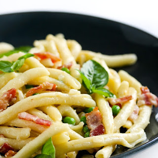 Pasta, Bacon and Peas