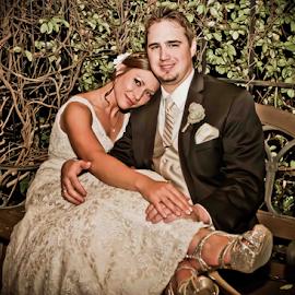 Relaxing by Matthew Chambers - Wedding Bride & Groom ( wedding, bride and groom )
