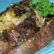 Garlic and Parsley Potatoes With Red and Black Pepper (Rachael R