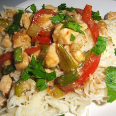 Capelli D' Angelo With Thai Chicken
