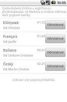 Screenshot of Easy SMS  Czech language