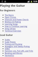 Screenshot of Guitar EBook