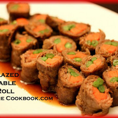 Soy-Glazed Vegetable Beef Rolls