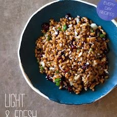 Light and Fresh Wheat Berry Salad