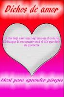 Screenshot of Dichos de amor