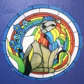 Moho Lyon  by Dee Lauzon - Artistic Objects Glass (  )