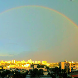 Omg double rainbow! Lol by Ashwin Philips - Landscapes Weather
