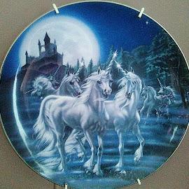 Unicorn by Lyz Amer - Artistic Objects Cups, Plates & Utensils ( unicorn )