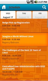 LinuxCon 2011 - screenshot
