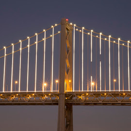 Sunset Over Bay Bridge by Janet Marsh - Buildings & Architecture Bridges & Suspended Structures ( nightsf, sunset, bay bridge,  )