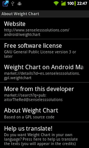 【免費健康App】Weight Chart v2-APP點子