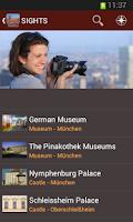 Screenshot of Munich Travel Guide - TOURIAS