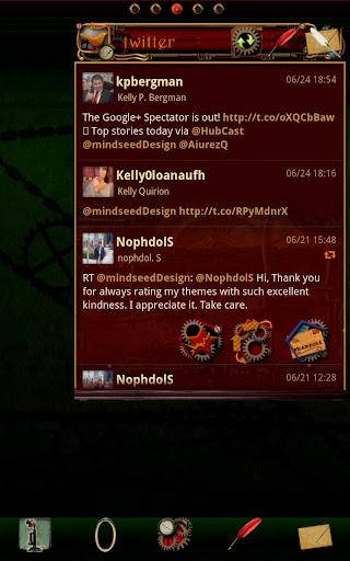 Steampunk Twitter GO Widget