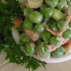 Pea Salad with Creamy Dressing