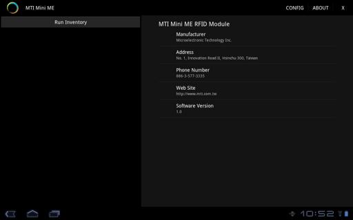 MTI RFID ME™ GUI