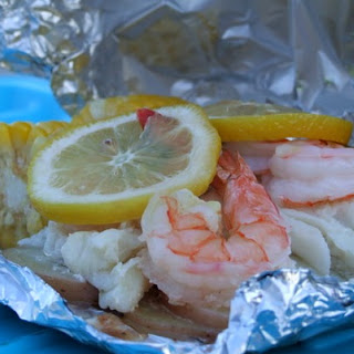 "Grilled New England Seafood ""Bake"""