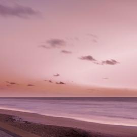 Pink Dawn by Judy Hall-Folde - Landscapes Sunsets & Sunrises ( clouds, atlantic ocean, ocean, seascape, beach, beverly beach, morning, gray, dawn, flagler county, florida, pink, sunrise, light, tan )
