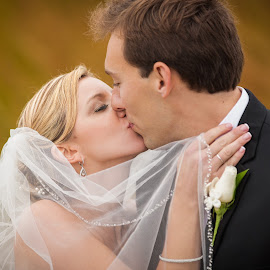 First Kiss by Mike DeMicco - Wedding Bride & Groom ( , Wedding, Weddings, Marriage )