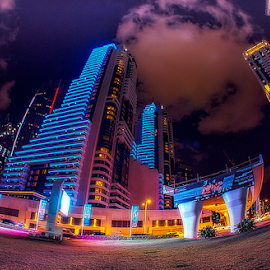 Mega Tall Blocks by Braggart Reigh - Buildings & Architecture Office Buildings & Hotels ( nightshot, exterior, buildings, architecture, nightscape, hotels )