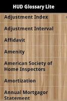Screenshot of HUD Glossary Lite