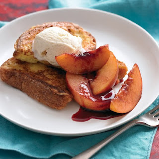 French Toast with Red-Wine Nectarines