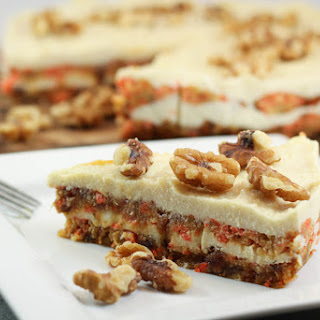 Raw Carrot Cake with Macadamia Frosting