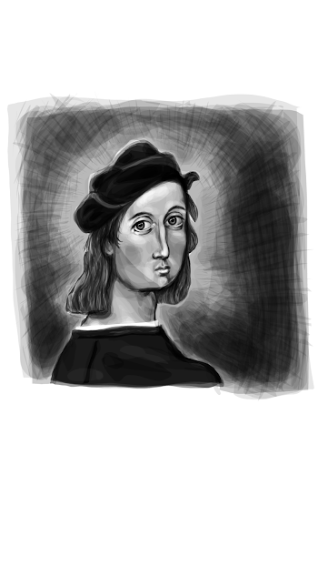Raphael Self-Portrait #2 (full)