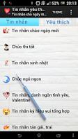 Screenshot of Tin nhắn  yêu thương