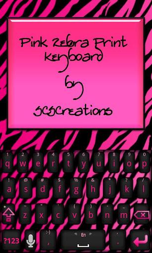 KB SKIN - Pink Zebra Print