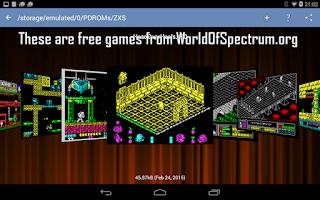 Screenshot of Speccy - Sinclair ZX Emulator