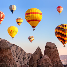 Hot Air Balloons Cappadocia  by Nayyer Reza - Transportation Other ( colored balloons, color, hotair balloons, turkey, nayyer, cappadocia, reza )