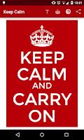 Screenshot of Keep Calm