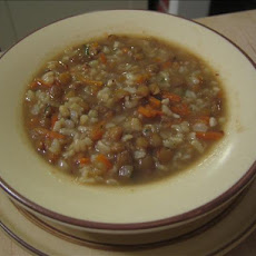 Lentil and Rice Soup With Sausage (Low Fat)