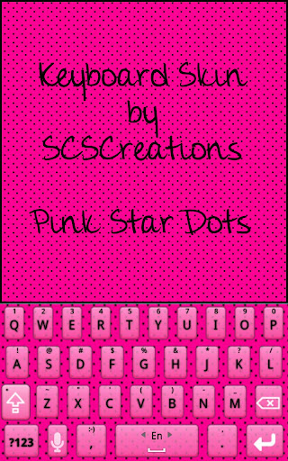 KB SKIN - Pink Star Dots