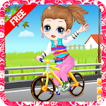The little girl learn bicycle APK Image