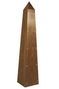 1 Metre Wooden Obelisk in American Black Walnut
