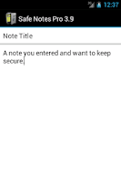 Screenshot of Safe Notes Pro Secure NotePad