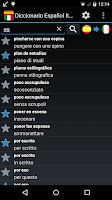 Screenshot of Offline Spanish Italian Dict.
