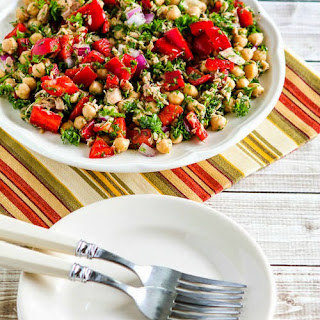 Garbanzo and Tuna Salad with Red Peppers and Parsley